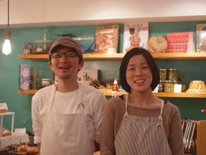 店主の田中浩一さん(左)と奥様の麻里さん