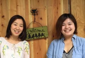 左:オーナーの高浜敬子さ  右: スタッフの菅谷智美さん